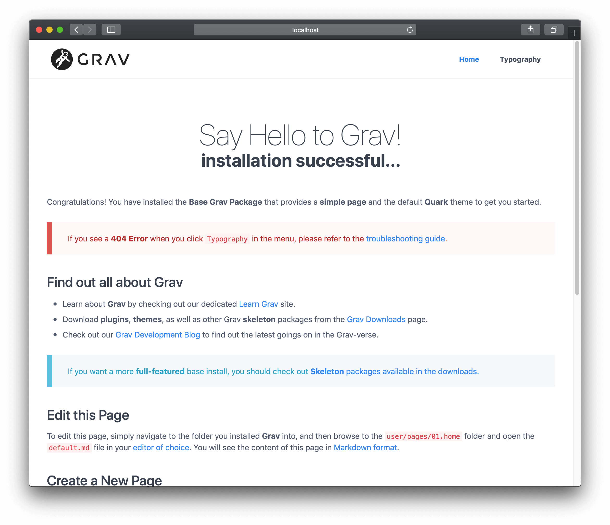 Pages | Grav Documentation